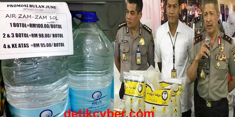 Pemilik Air Zam-zam Palsu Raup Rp1,8 M Dibekuk Polisi