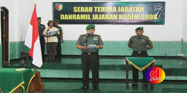 Dandim 0808/Blitar Dalam Sertijab Danramil, Jaga Netralitas TNI