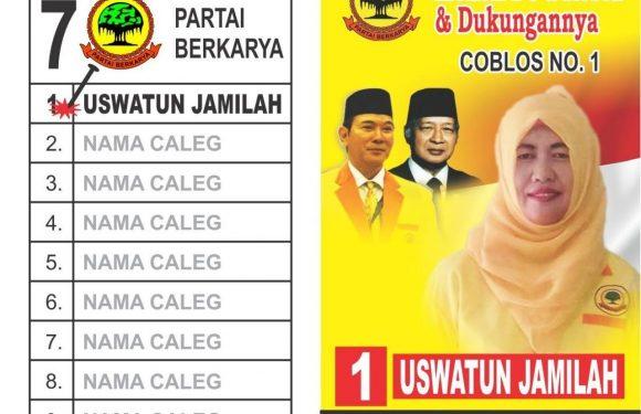 Uswatun Jamilah Caleg Partai Berkarya, Kedepankan Kepentingan Rakyat