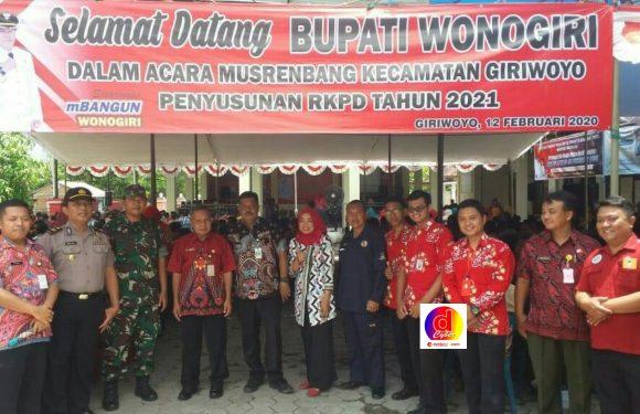 Bupati  Wonogiri Joko Sutopo Hadiri  Musrenbang Kecamatan Giriwoyo