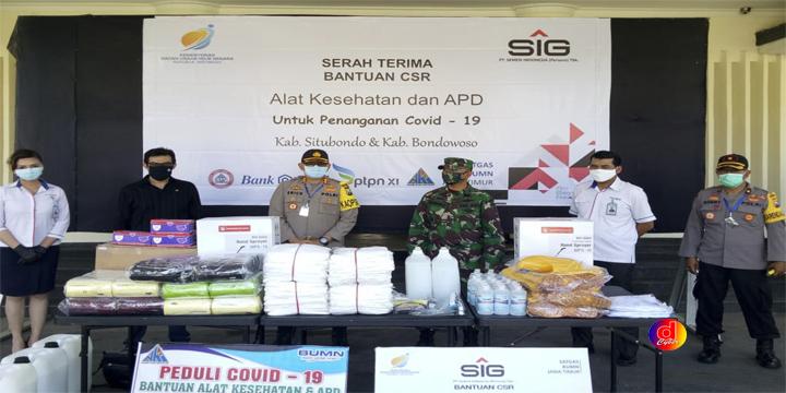 Bantu Tangani Covid-19, SIG Salurkan Bantuan Alkes dan APD di Bondowoso dan Situbondo