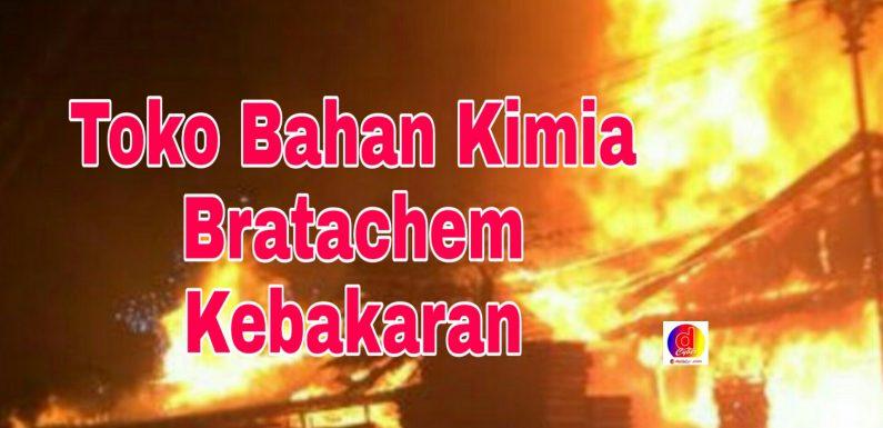 Diduga Korsleting Toko Bahan Kimia Kebakaran