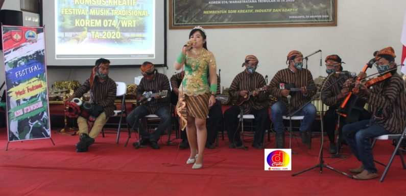 Kodim Wonogiri Kirim Utusannya Untuk Berlaga Dalam Festival Musik Tradisional
