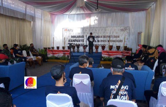 Deklarasi Kampanye Damai pada pemilihan Bupati dan Wakil Bupati Wonogiri Tahun 2020