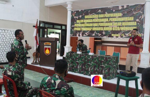 Kasatresnarkoba Polres Wonogiri Datangi Markas TNI