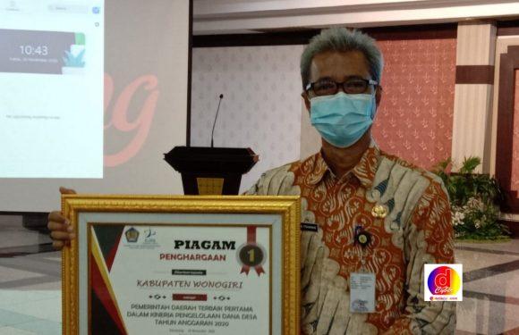 Wonogiri Mendapat Penghargaan Terbaik Dalam Mengelola Dana Desa