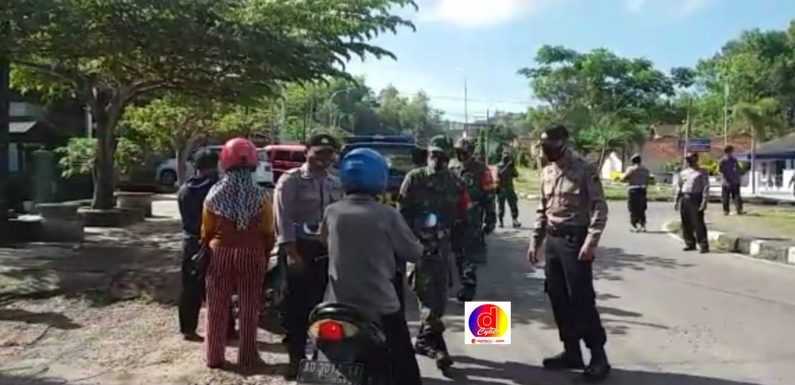 Petugas Gugus Tugas Gelar Ops Yustisi Di Perbatasan Provinsi