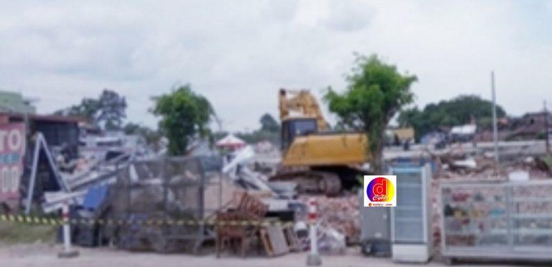 Hambat Proyek Pembangunan Exit Tol Sragen Timur, Satu Bangunan di Sambungmacan Sragen Dibongkar Paksa