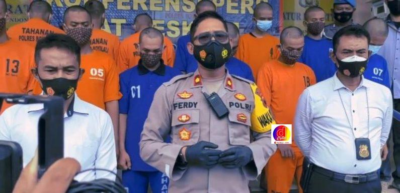 Tim Sapu Jagad Polres Boyolali Bekuk 12 Pelaku Tindak Curas
