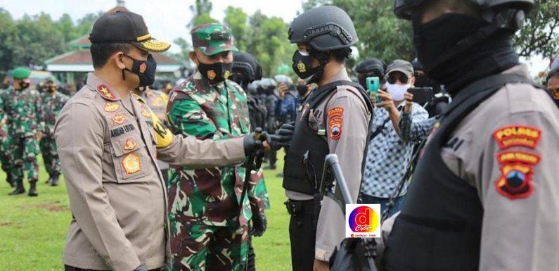 Kapolda Jateng dan Kasdam IV Diponegoro, Buka Latihan Gabungan TNI-Polri se- Solo Raya di Mako Brimob Gunung Kendil Boyolali