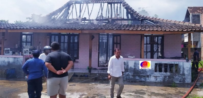 Kebakaran di Kelurahan Cangakan Karanganyar Kerugian Ratusan Juta