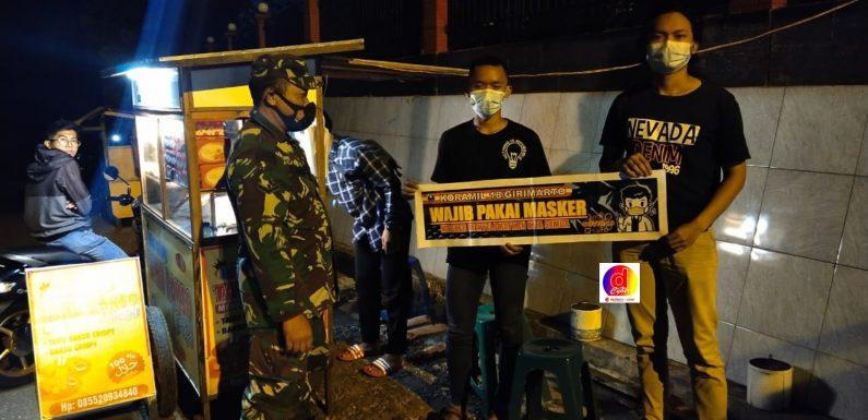 Tingkatkan Kesadaran Masyarakat Terapkan Prokes, Koramil 18/Girimarto Gelar Patroli