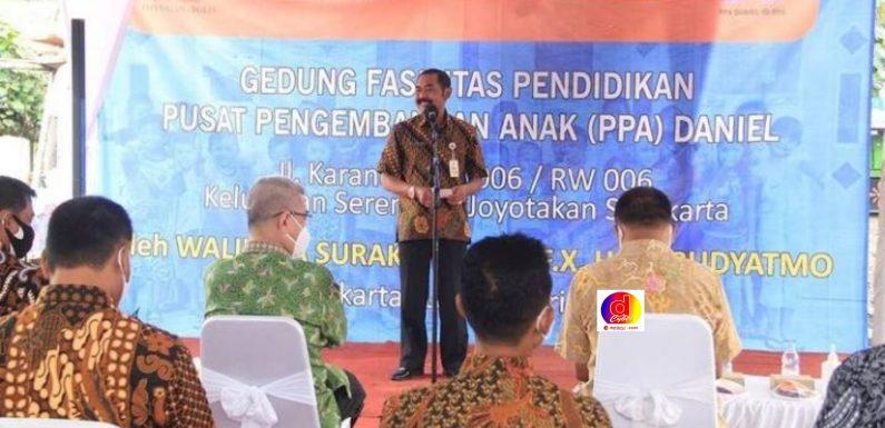 Walikota Surakarta Resmikan Gedung Fasilitas Pendidikan Pusat Pengembangan Anak