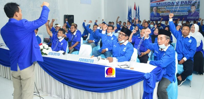 Musyawarah Daerah Ke V  DPD PAN Kab Wonogiri