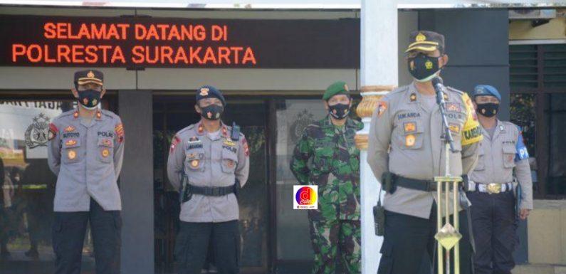 Kabagops Polresta Surakarta, Pimpin Apel Kesiapan Personel Pengamanan Perayaan Paskah 2021