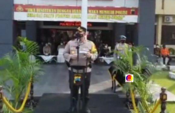 Polresta Surakarta Gelar Pasukan Persiapan Pengamanan Idul Fitri dan Kenaikan Isa Al-Masih