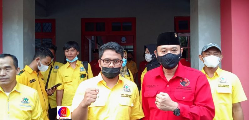 Silaturahim Politik Dilakukan Oleh Partai Golkar Karanganyar Pada Partai PDIP Karanganyar