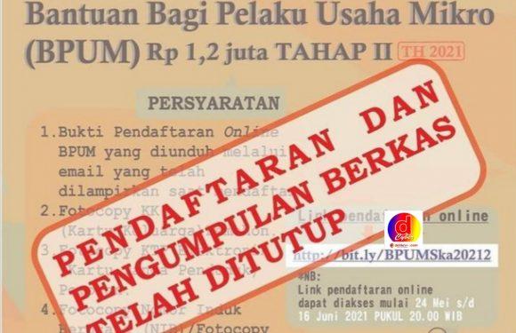 Hari Ini Pendaftaran dan Pengumpulan Berkas BPUM Tahap II Tahun 2021 Kota Surakarta Resmi Ditutup