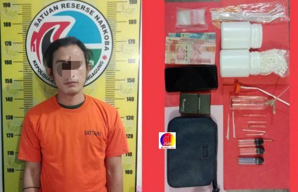 Edarkan Sabu dan Pil Double L, Pria Asal Beji Pasuruan Ditangkap Satresnarkoba Polres Tulungagung