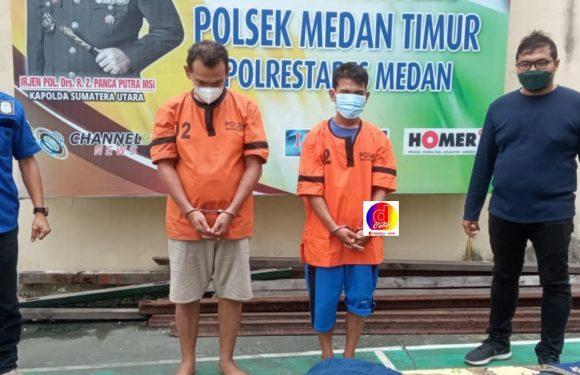 Seminggu Ops Kancil, Polsek Medan Timur Tangkap 2 Pelaku Curanmor