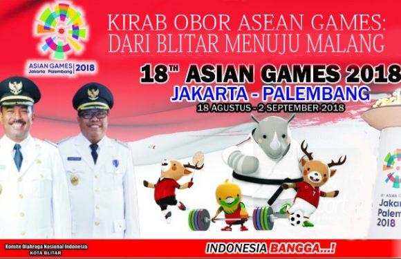 Kirab Obor Asean Games Dari Blitar Menuju Malang