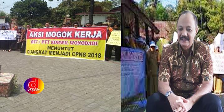 Ratusan GTT dan PTT Gelar Demo Turun Ke Jalan, Tuntut Kesejahteraan