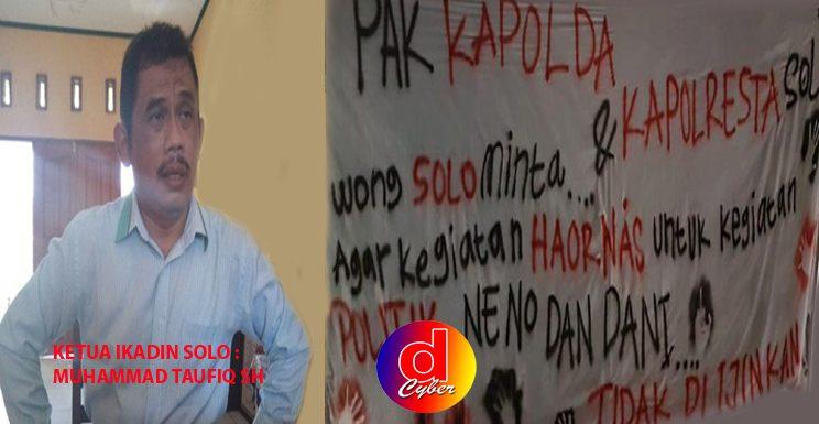 Ketua Ikadin Solo : Meminta Polisi Mengamankan Acara Ahmad Dhani