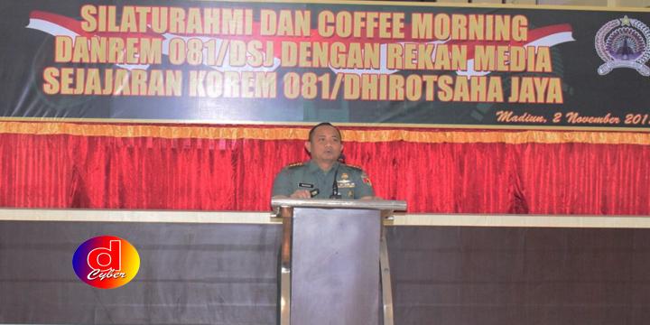 Danrem 081 Dhirotsaha Jaya Madiun : Bersama Media TNI Kuat