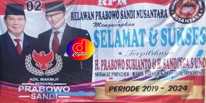 Baliho Kemenangan Prabowo – Sandi di Brebes, Di Protes