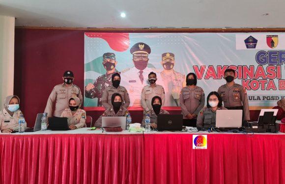 Side Job' Polwan Polres Blitar Kota Dalam Suksesnya PPKM Level 1 Kota Blitar